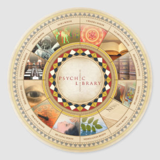 Psychic Library Classic Round Sticker