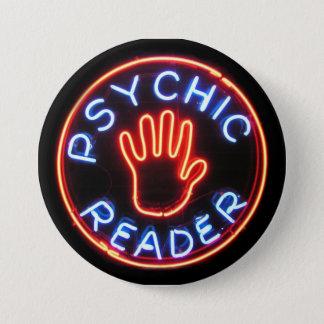 Psychic Reader Neon Sign 3 Inch Round Button
