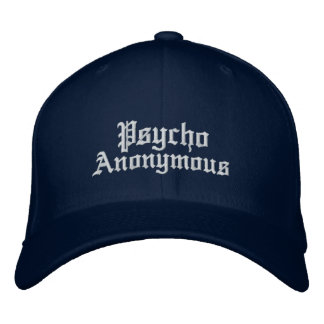 Psycho Anonymous Bent-Cap Wool Embroidered Hat