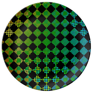 Psycho Checkers by Kenneth Yoncich Porcelain Plates
