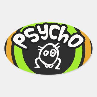 Psycho Doodle Oval Sticker