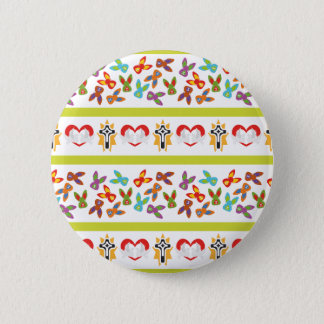 Psycho Easter Pattern colorful 2 Inch Round Button