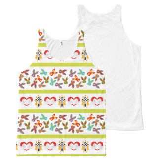 Psycho Easter Pattern colorful All-Over-Print Tank Top