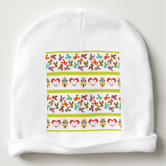 Psycho Easter Pattern colorful Baby Beanie