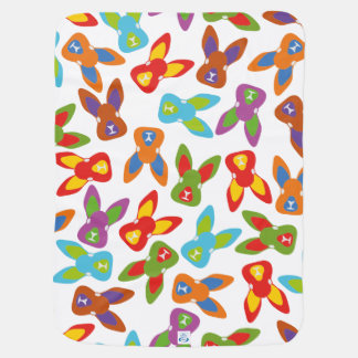 Psycho Easter Pattern colorful Baby Blanket