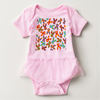 Psycho Easter Pattern colorful Baby Bodysuit