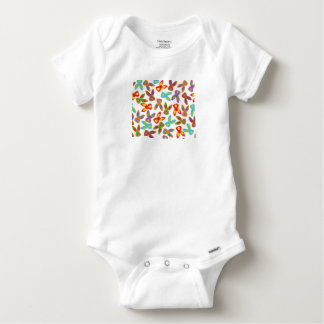 Psycho Easter Pattern colorful Baby Onesie
