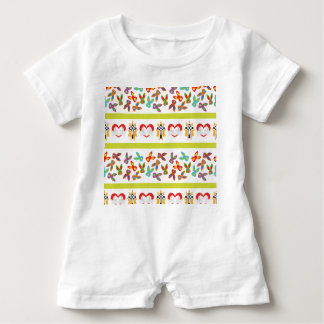 Psycho Easter Pattern colorful Baby Romper