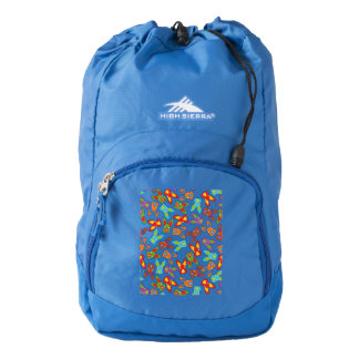Psycho Easter Pattern colorful Backpack