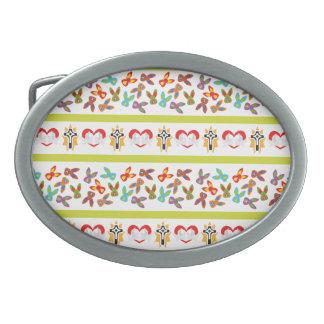 Psycho Easter Pattern colorful Belt Buckle