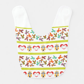 Psycho Easter Pattern colorful Bib
