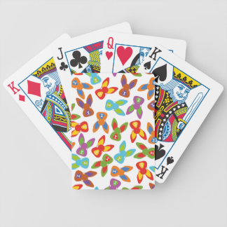 Psycho Easter Pattern colorful Bicycle Playing Cards