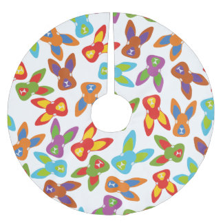 Psycho Easter Pattern colorful Brushed Polyester Tree Skirt