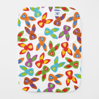 Psycho Easter Pattern colorful Burp Cloth