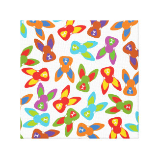 Psycho Easter Pattern colorful Canvas Print