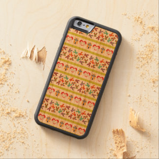 Psycho Easter Pattern colorful Carved Cherry iPhone 6 Bumper Case
