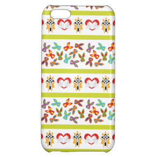 Psycho Easter Pattern colorful Case For iPhone 5C