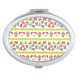 Psycho Easter Pattern colorful Compact Mirror