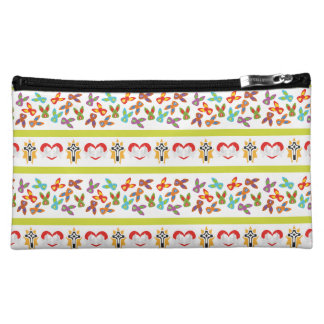 Psycho Easter Pattern colorful Cosmetic Bag
