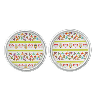 Psycho Easter Pattern colorful Cufflinks