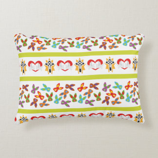 Psycho Easter Pattern colorful Decorative Pillow