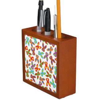 Psycho Easter Pattern colorful Desk Organizer