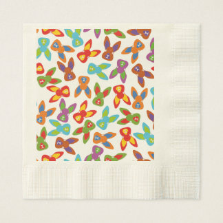 Psycho Easter Pattern colorful Disposable Napkins