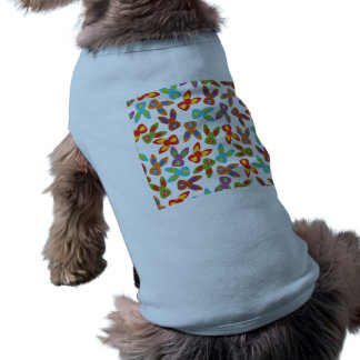 Psycho Easter Pattern colorful Dog Tee Shirt