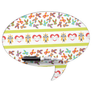 Psycho Easter Pattern colorful Dry Erase Board