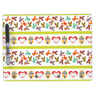 Psycho Easter Pattern colorful Dry Erase Board With Keychain Holder