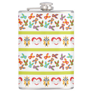 Psycho Easter Pattern colorful Flask