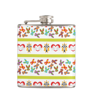 Psycho Easter Pattern colorful Flasks