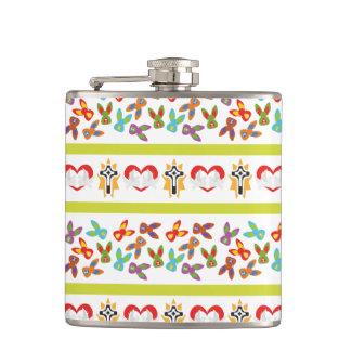 Psycho Easter Pattern colorful Flasks