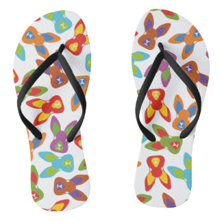 Psycho Easter Pattern colorful Flip Flops