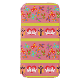 Psycho Easter Pattern colorful Incipio Watson™ iPhone 6 Wallet Case