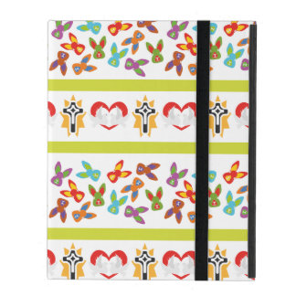 Psycho Easter Pattern colorful iPad Case
