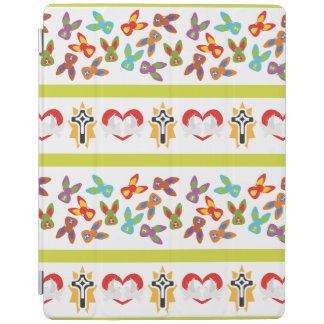 Psycho Easter Pattern colorful iPad Cover