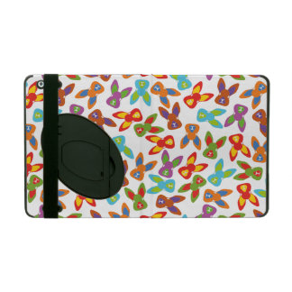 Psycho Easter Pattern colorful iPad Folio Case
