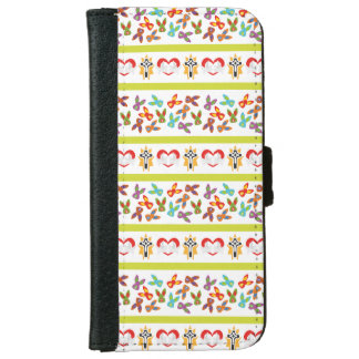 Psycho Easter Pattern colorful iPhone 6 Wallet Case
