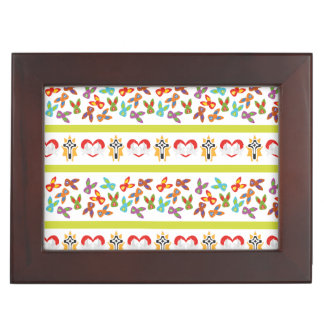 Psycho Easter Pattern colorful Keepsake Box