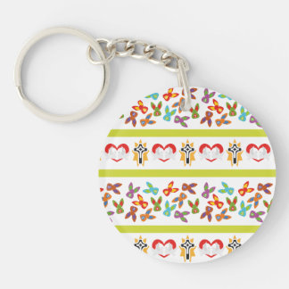Psycho Easter Pattern colorful Keychain