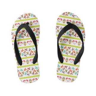 Psycho Easter Pattern colorful Kid's Flip Flops