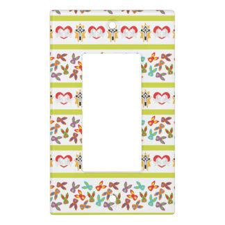 Psycho Easter Pattern colorful Light Switch Cover