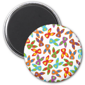 Psycho Easter Pattern colorful Magnet