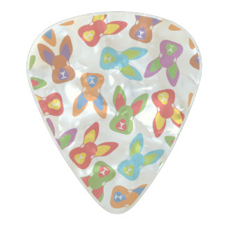 Psycho Easter Pattern colorful Pearl Celluloid Guitar Pick