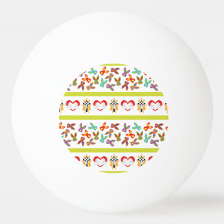 Psycho Easter Pattern colorful Ping Pong Ball