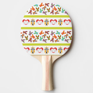 Psycho Easter Pattern colorful Ping Pong Paddle