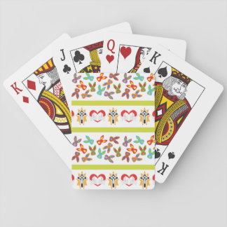 Psycho Easter Pattern colorful Playing Cards