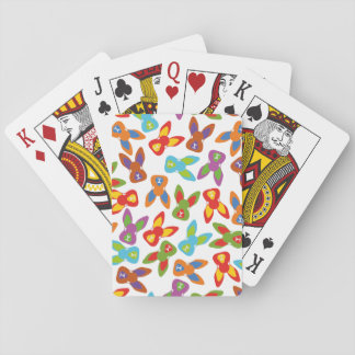 Psycho Easter Pattern colorful Poker Deck