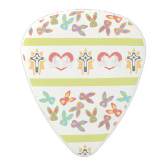 Psycho Easter Pattern colorful Polycarbonate Guitar Pick